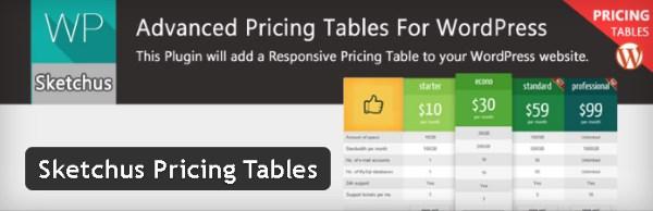 Sketchus Pricing Tables - Plugin gratuits – Les meilleurs plugin parus en Juin 2016