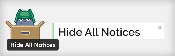 Plugin gratuits - Hide All Notices