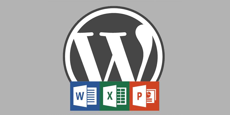 Intégrer des documents Word et des fichiers Excel dans WordPress