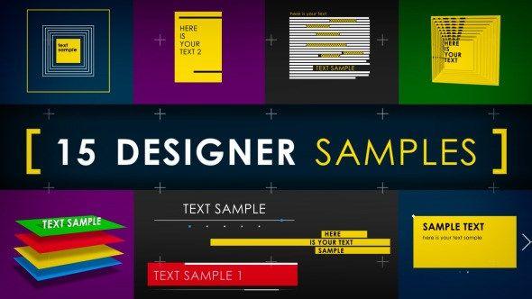 Envato - Les fichiers gratuits du mois - 15 designer samples