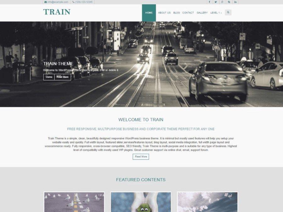 Les plus beaux thèmes gratuits parus en Août 2016 - Train