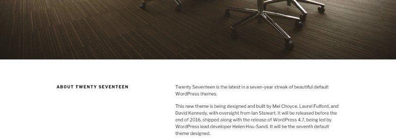 Twenty Seventeen - Le futur nouveau thème par défaut de WordPress