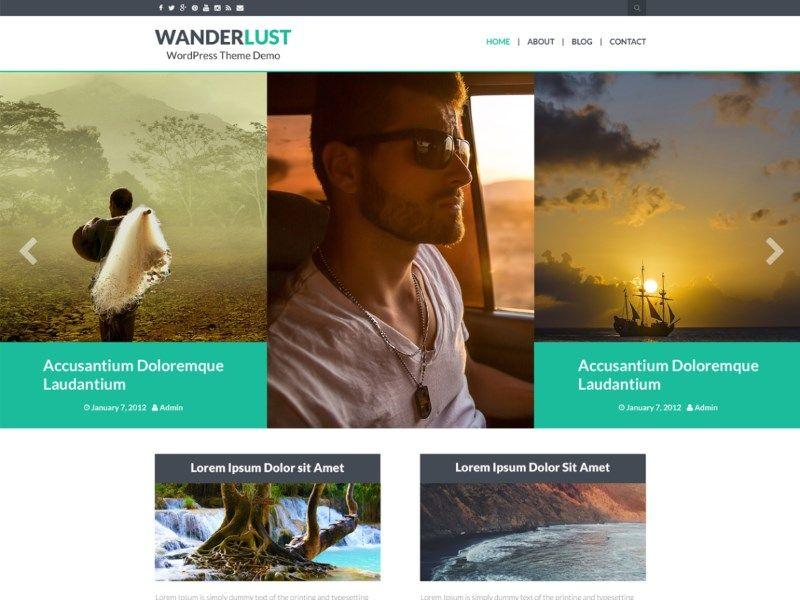 Les plus beaux thèmes gratuits parus en Août 2016 - Wanderlust