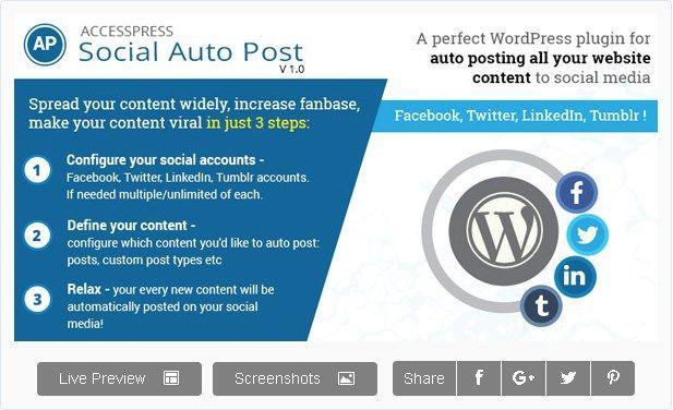 AccessPress Social Auto Poster