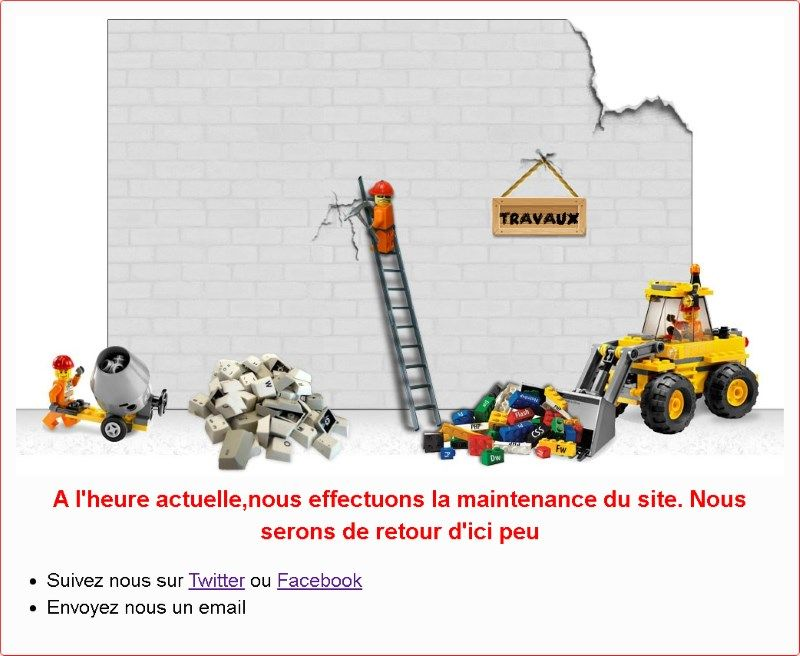 example page de maintenance