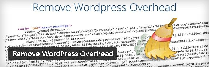 Plugin gratuits - Remove WordPress Overhead