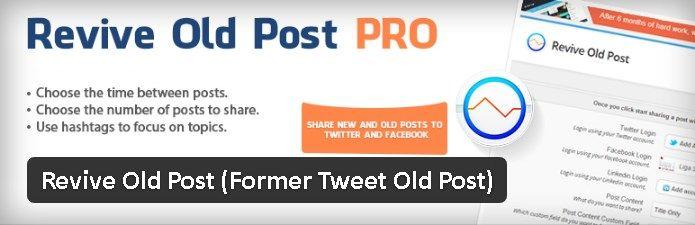 Partage automatique sur les réseaux sociaux - Revive Old Post