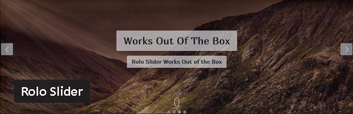 Plugin gratuits - Rolo Slider