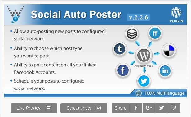 Partage automatique sur les réseaux sociaux - Social Auto Poster