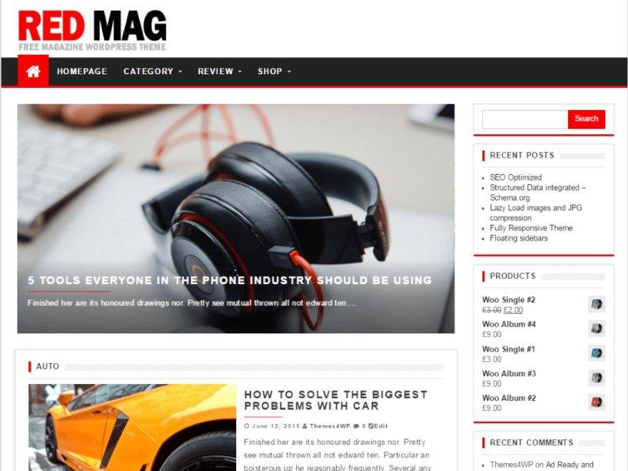 Les plus beaux thèmes gratuits parus en Octobre 2016 - Red Mag