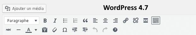 nouvelles fonctionnalités de WordPress 4.7