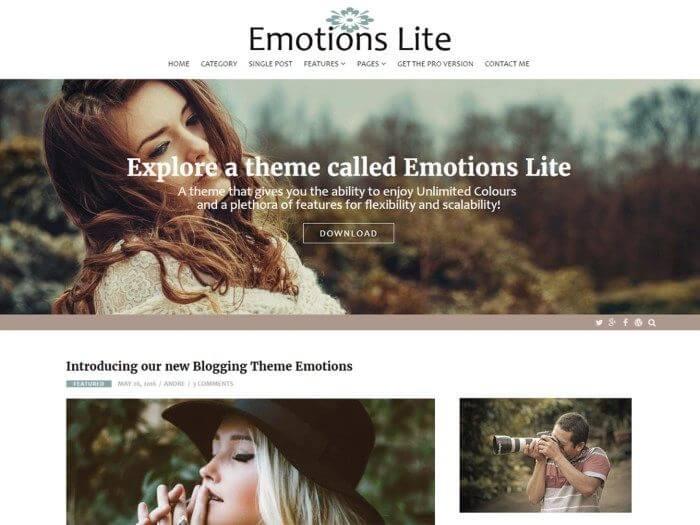 Les 10 plus beaux thèmes gratuits - Emotions Lite