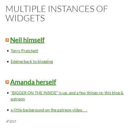 Exemple de plusieurs widget RSS