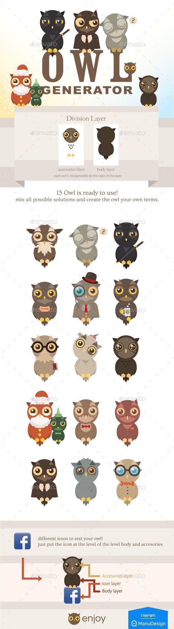 Fichiers gratuits Envato - Owl Generation