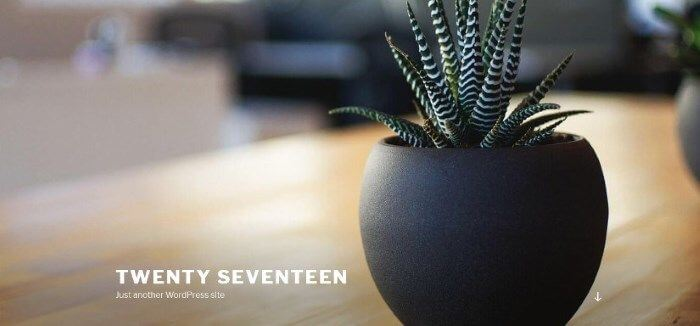 WordPress 4.7 - Twenty Seventeen