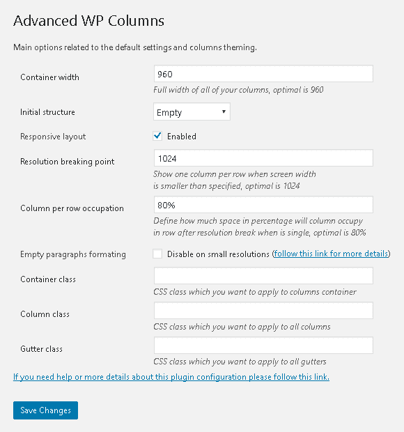 Advanced WP Columns- Ajouter des colonnes dans vos articles