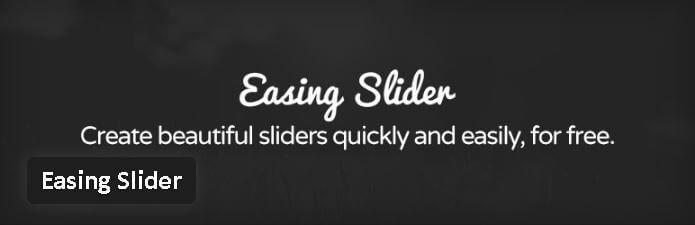Easing Slider - meilleurs plugin diaporama pour WordPress