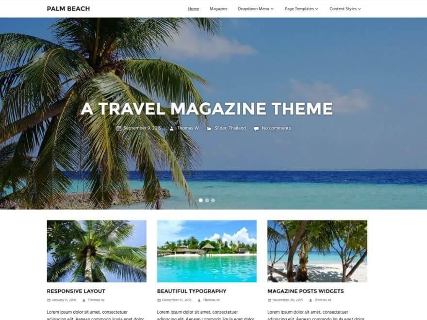 Palm Beach - Les 10 plus beaux thèmes gratuits parus en Décembre 2016