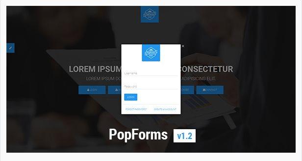 PopForms - Envato - Les fichiers gratuits de Janvier 2017