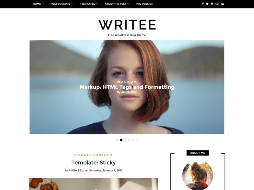 Writee - Les 10 plus beaux thèmes gratuits parus en Décembre 2016