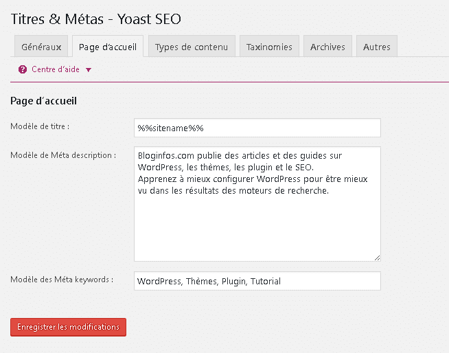 WordPress SEO - Titre & Meta Description