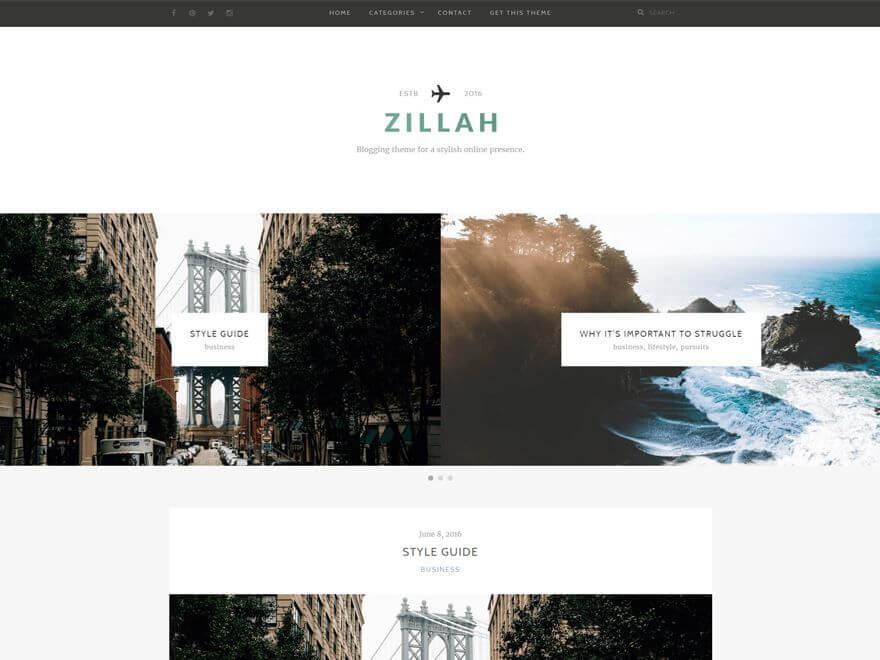 Zillah - Les 10 plus beaux thèmes gratuits parus en Décembre 2016