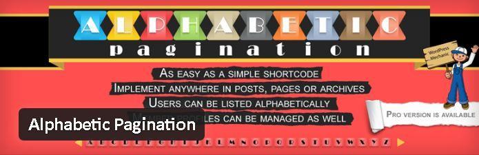 Alphabetic Pagination - Fractionner un article WordPress sur plusieurs pages