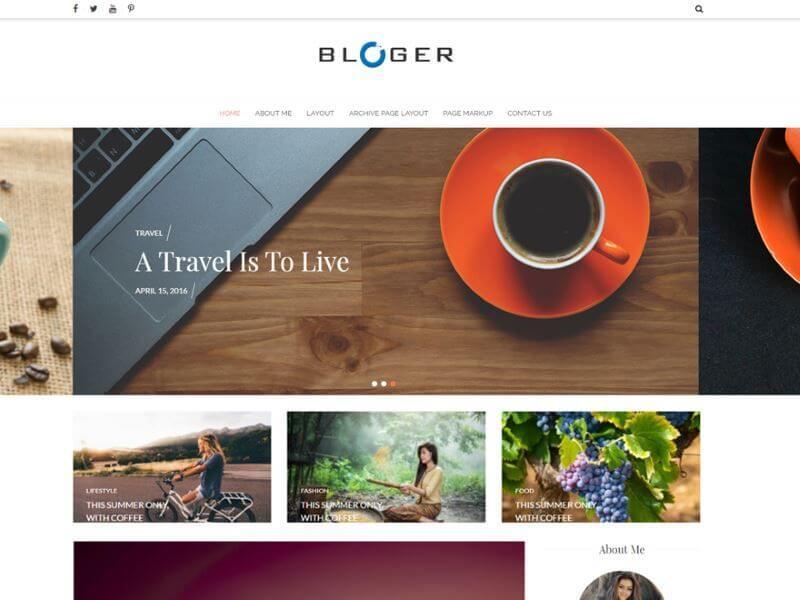 Bloger - Les plus beaux thèmes gratuits parus en Janvier 2017